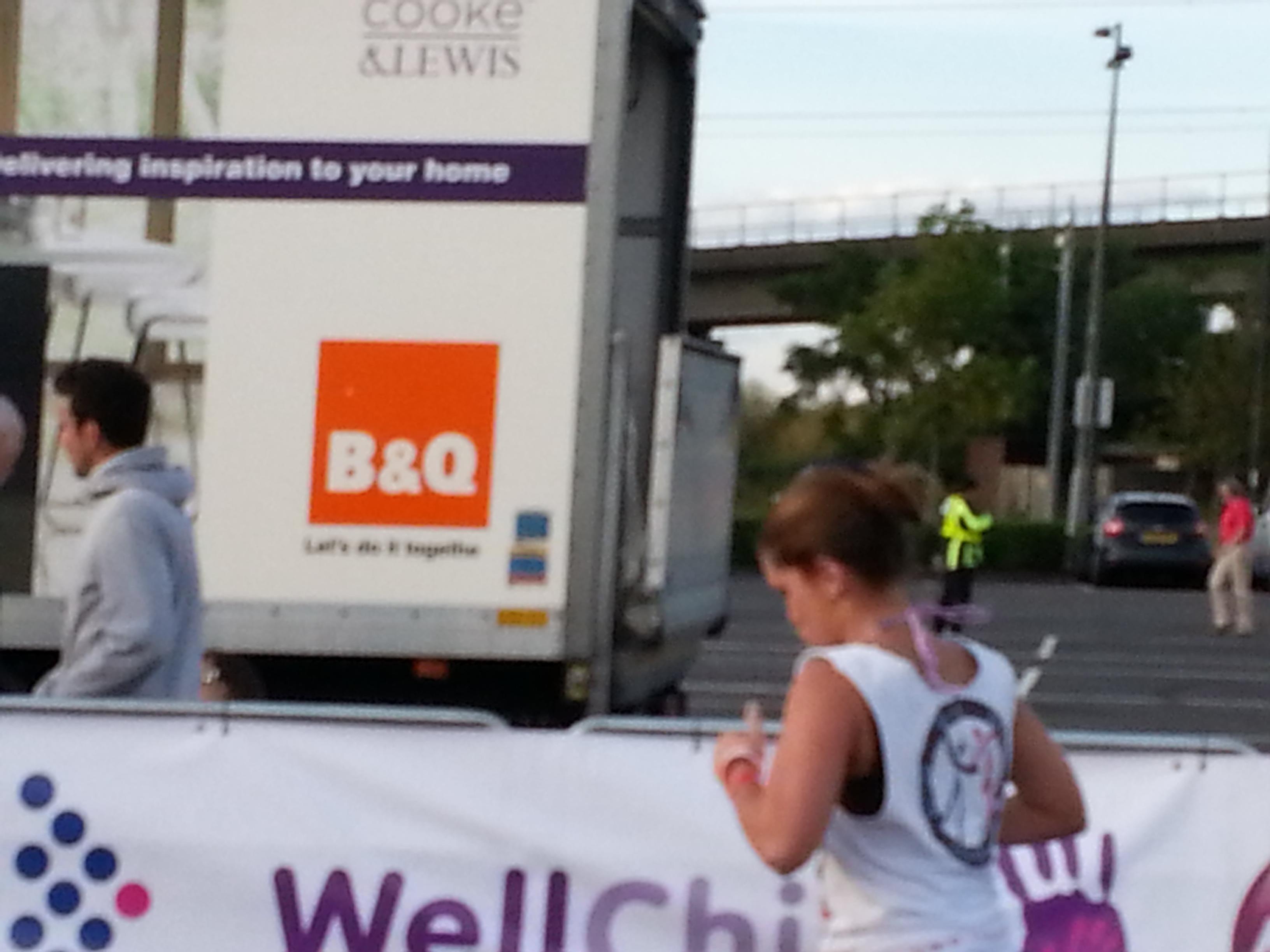 Running for danceaid at the London Triathlon 2012