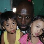 Josh with Rogelio's children