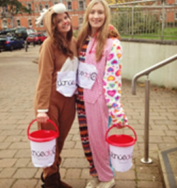 Fundraising in onesies